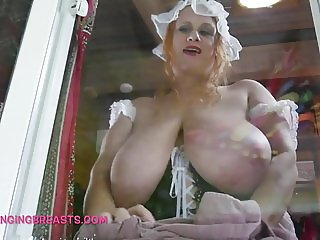 English Maid with beautiful big hangers