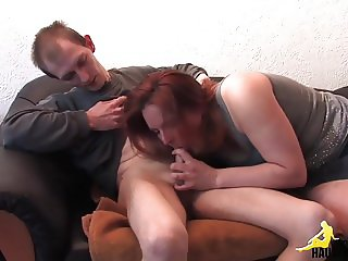 Redhead girl and the thin boy