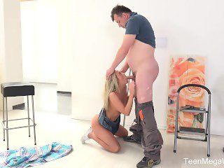Old-n-Young.com-Vinna Reed-Blonde pays an older man by swallowing his sperm