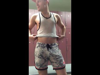 DoodleHobbitt Strips, Shows off and plays in Gym Lockerroom - Soft to Hard