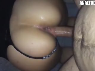 Dirty French Whore Takes It In Both Holes