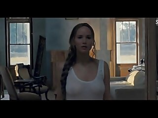 Jennifer Lawrence Nude Tits & Butt In See Through Nightie