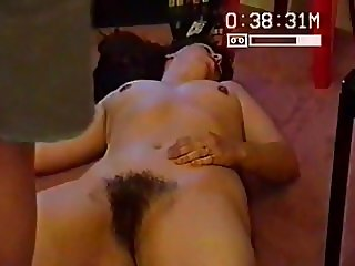 SILF wife holly showing her hairy cunt and being fingered