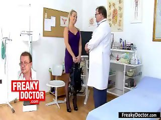 Gynecological check-up of hottest czech babe Rachel Evans