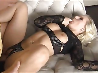Blond German Whore Takes Dick And Get Cum Over Her Face