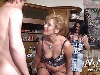 German Teen Assists Mature Couple