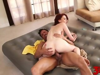 Redhead Gets Hard Rock Dick Emma Evins