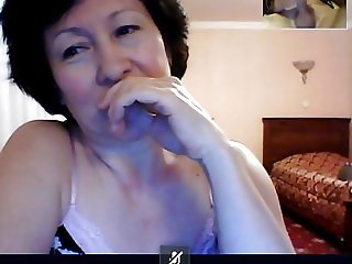 GRANNY from Kazahstan watch me how I play on skype