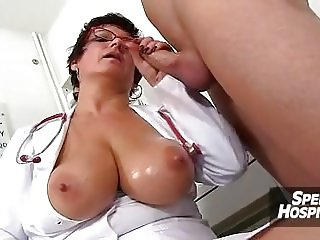 Big tits lady Greta with a boy