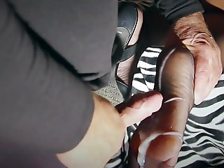 Dirty hard nylon foot sex with the milf BDSM