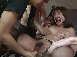 Bound Japanese Woman Used By Multiple Men