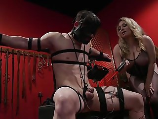New meat gets pain & cock