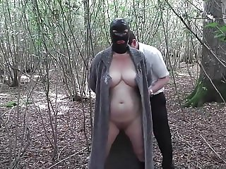 Slut Wife Hooded in Forest and Fucked 2