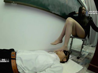 asian foot worship-teacher's foot slave pt.1