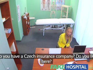 FakeHospital Claustrophobic sexy russian blonde seem to love gorgeous nurse