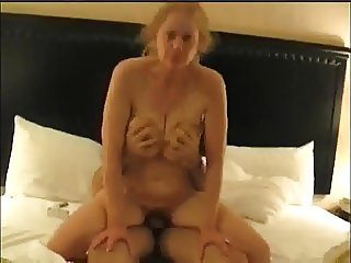 Insatiable nympho wife fucks a young cock and loves it