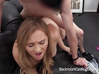 FIRST TIME ANAL AND CREAMPIE BLONDE ON CASTING COUCH
