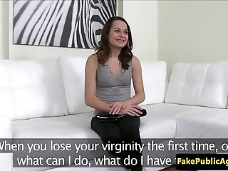 Casting amateur creampied during audition