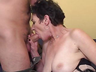 Granny penetrated by young mother fucker