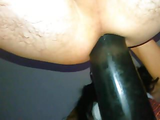 Extreme strap on, huge pumped dildo in my ass