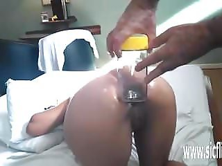 Brutal anal fisting and whiskey bottle insertions