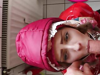 maid in anorak gives head