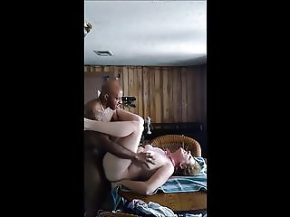 kitchen table pussy and anal fuckn my white whore