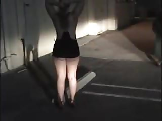 Car park exhibitionist