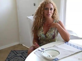 Step mom Offers Young Guy Her Great Handjob