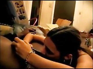 Hubby films the wife suckoff into a condom