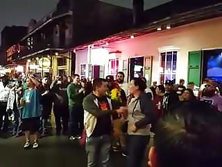 Reluctant Bourbon St Flasher