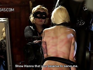 Blonde slave severely punished