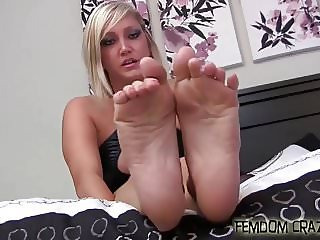 Clean my shoes with your dirty little tongue