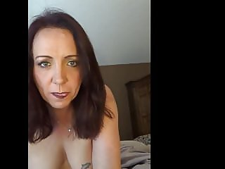 Slut Ann mature slut eating her own cum