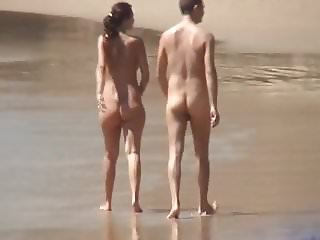 FKK young couple full nude walking