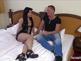 German Teen in First Time Porn Casting without Condom