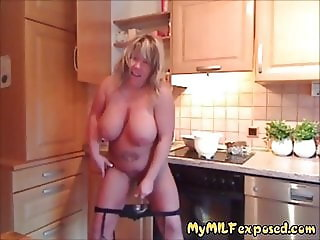 My MILF Exposed Busty mature biker slut playing with pussy