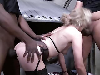 Hairy French Granny Fucks Black Cocks