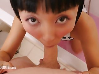 Stunning Japanese Cowgirl Marica Hase Gives Blowjob