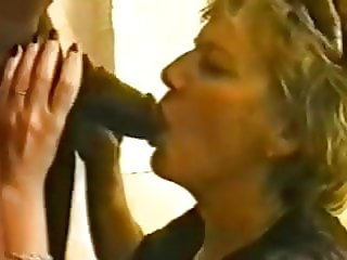 This horny White Granny is insatiable for black dick