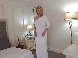 Sensual mature blonde on cam