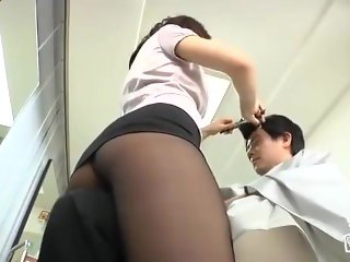 Asian in pantyhose 10