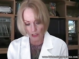 Granny Doctor Examines Cock