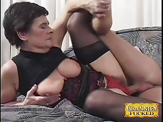 Granny Lovin' That Young Cock