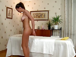 Horny Teen Faina Rides Massage Therapist's Huge Dick Until S