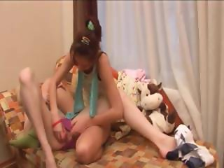 blondie and brunette lesbians in action