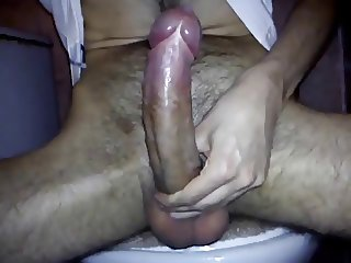 Cumshot from a big dick