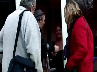 Old guy gets two prostitutes to clean his pipes