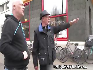 German tourist vists a sex shop part4