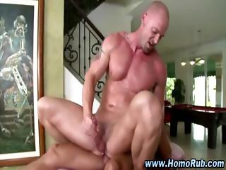 Straight guy turns gay and cums